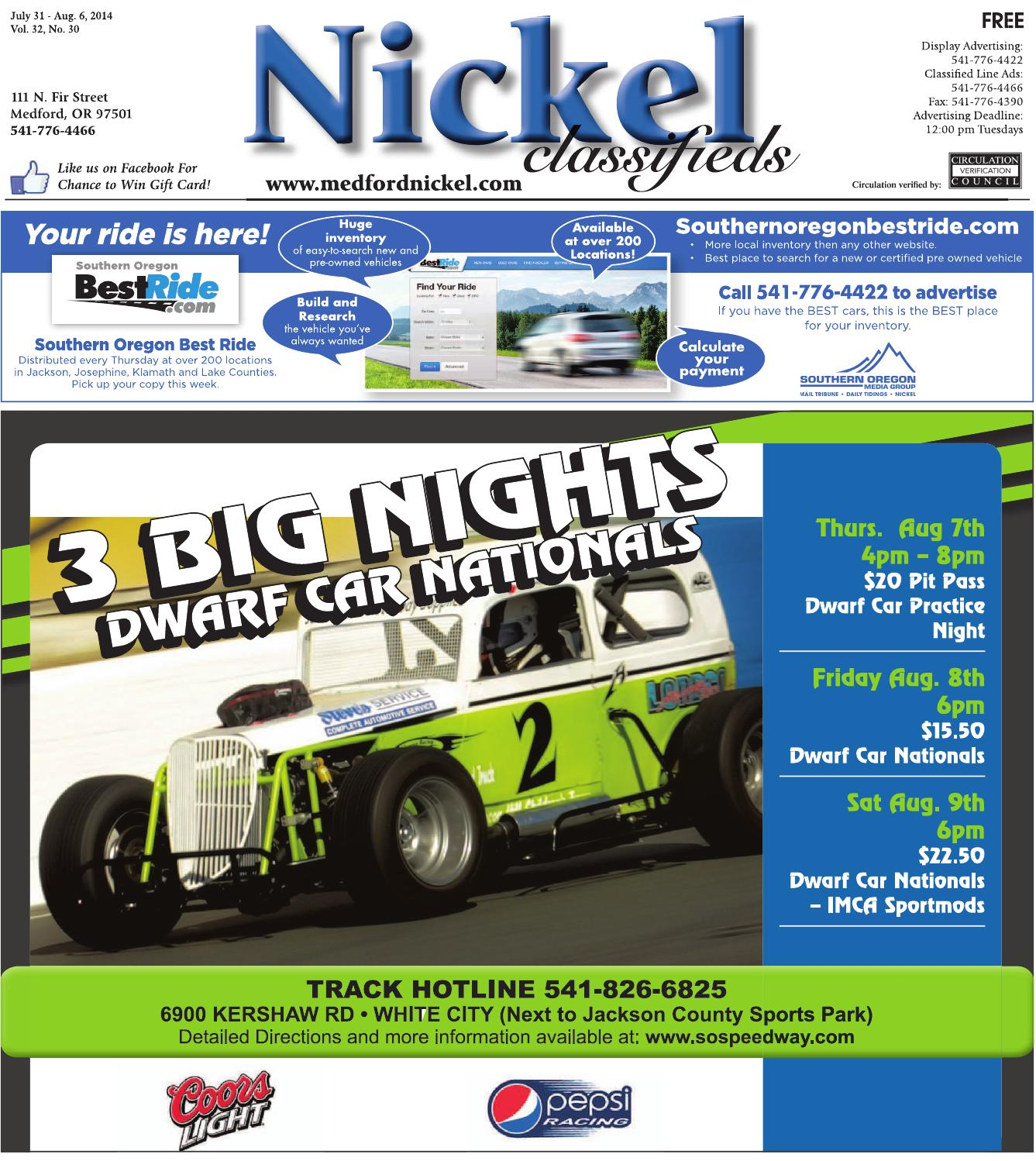 July 31, 2014 Nickel Classifieds by The Nickel - issuu