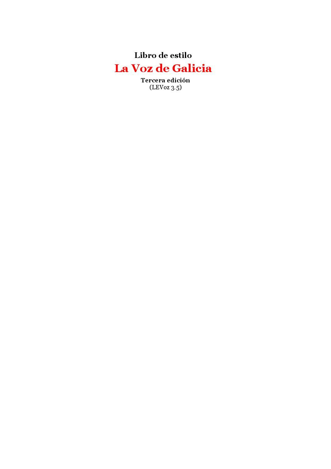 Libro de estilo la voz de galicia by hramosb - issuu