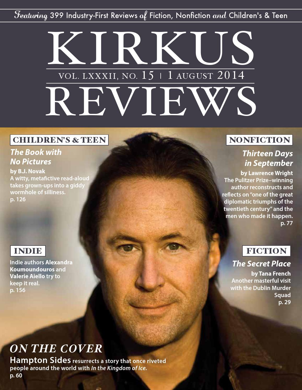 August 01, 2014  Volume LXXXII, No 15 by Kirkus Reviews - issuu c154863a6f6d