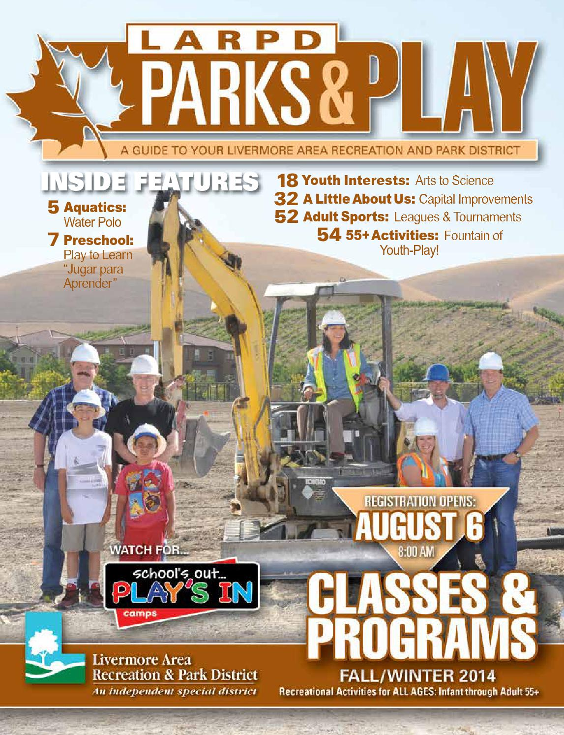 Parks & Play - Fall Winter 2014 Livermore Area Recreation & Park District