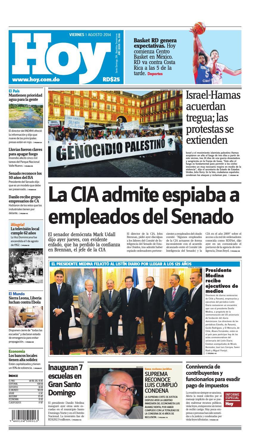 best service d0d6b 7e700 Periodico hoy 01 de agosto, 2014 by Periodico Hoy - issuu