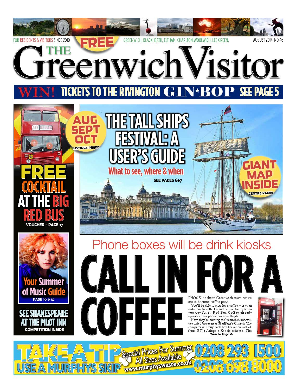 Greenwich Visitor August 2014 by The Greenwich Visitor - issuu