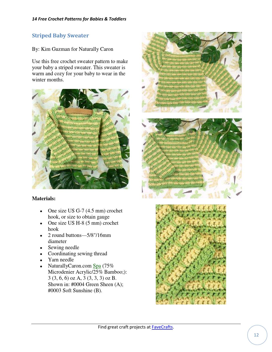 14 free crochet patterns for babies toddlers ebook by Valérie Brunet ...