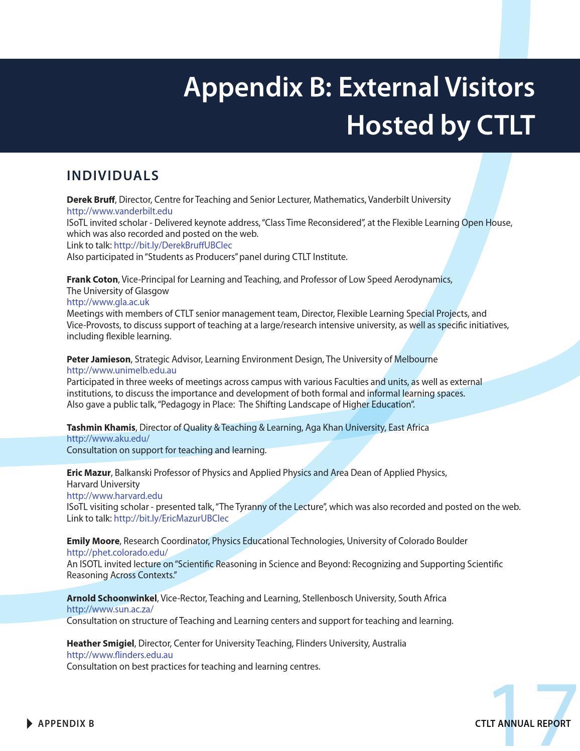 CTLT Annual Report 2014