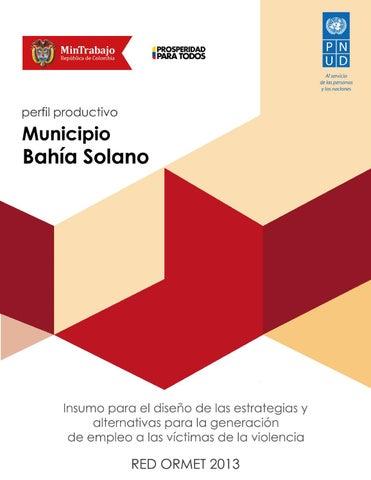 Perfil Productivo del Municipio Bahía Solano by PNUD Colombia - issuu e10d45f29744f