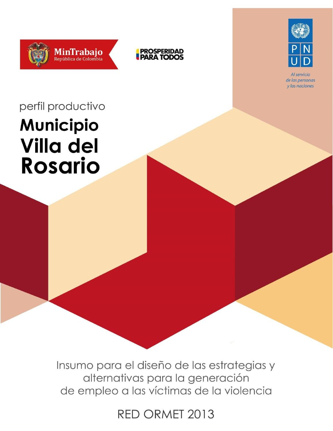 Perfil Productivo Del Municipio Villa Del Rosario By Pnud Colombia  # Muebles Jireh Bucaramanga