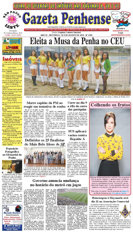 991d2609d59 3 a 9 08 14 - edição 2184 - Gazeta Penhense by Marcelo Cantero - issuu