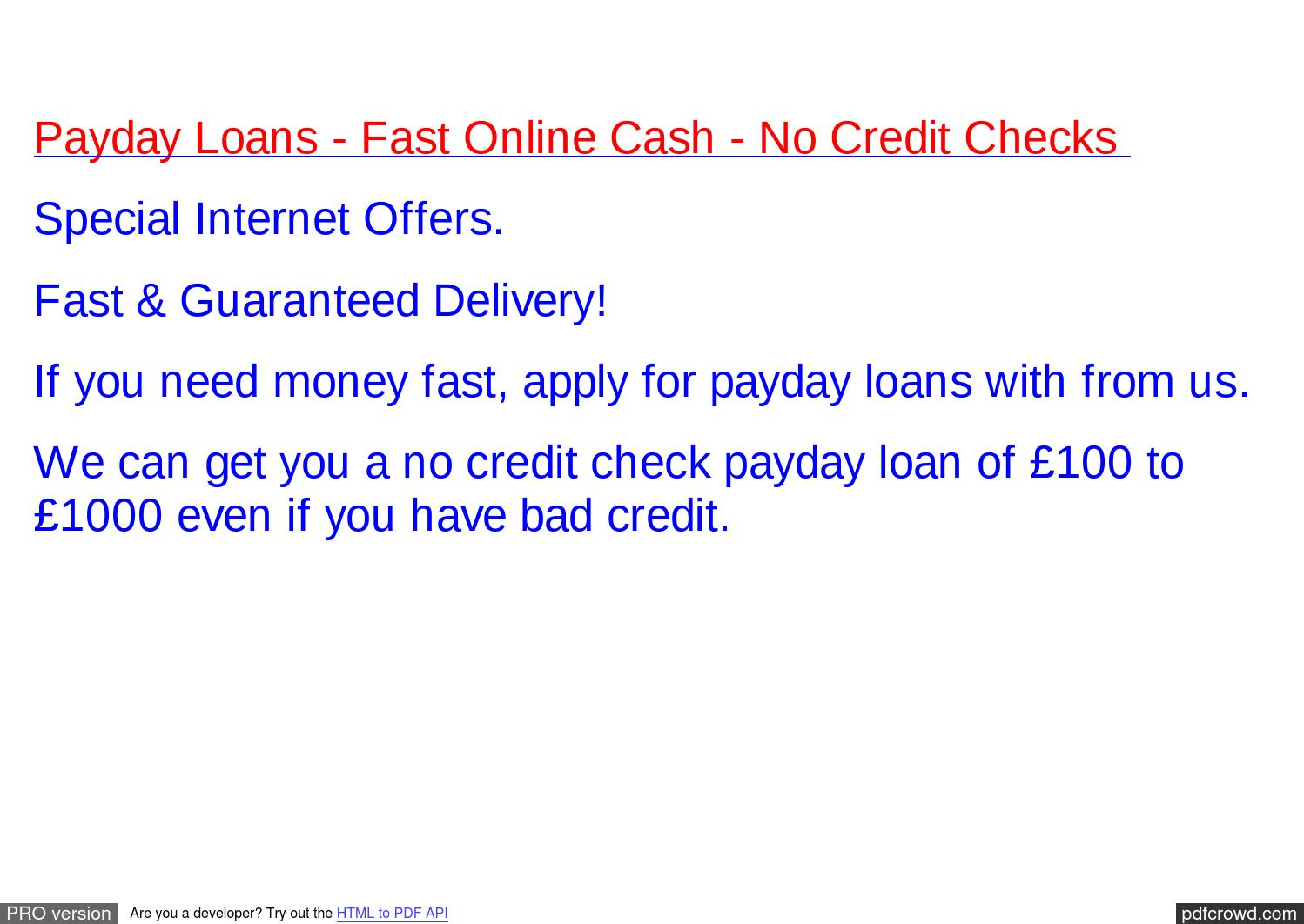 Online Payday Loans Kansas >> Bad Credit Loans No Credit Check : Same Day Payday Loans No Credit Check : No Credit Check Loans ...
