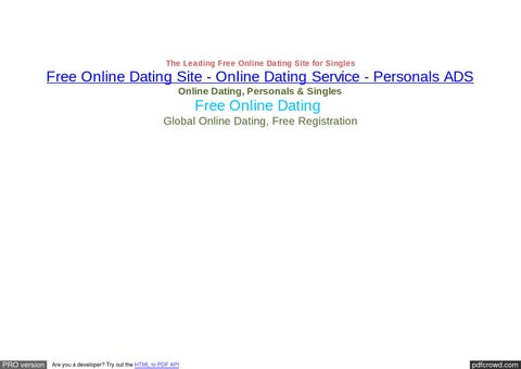 Online dating for canada