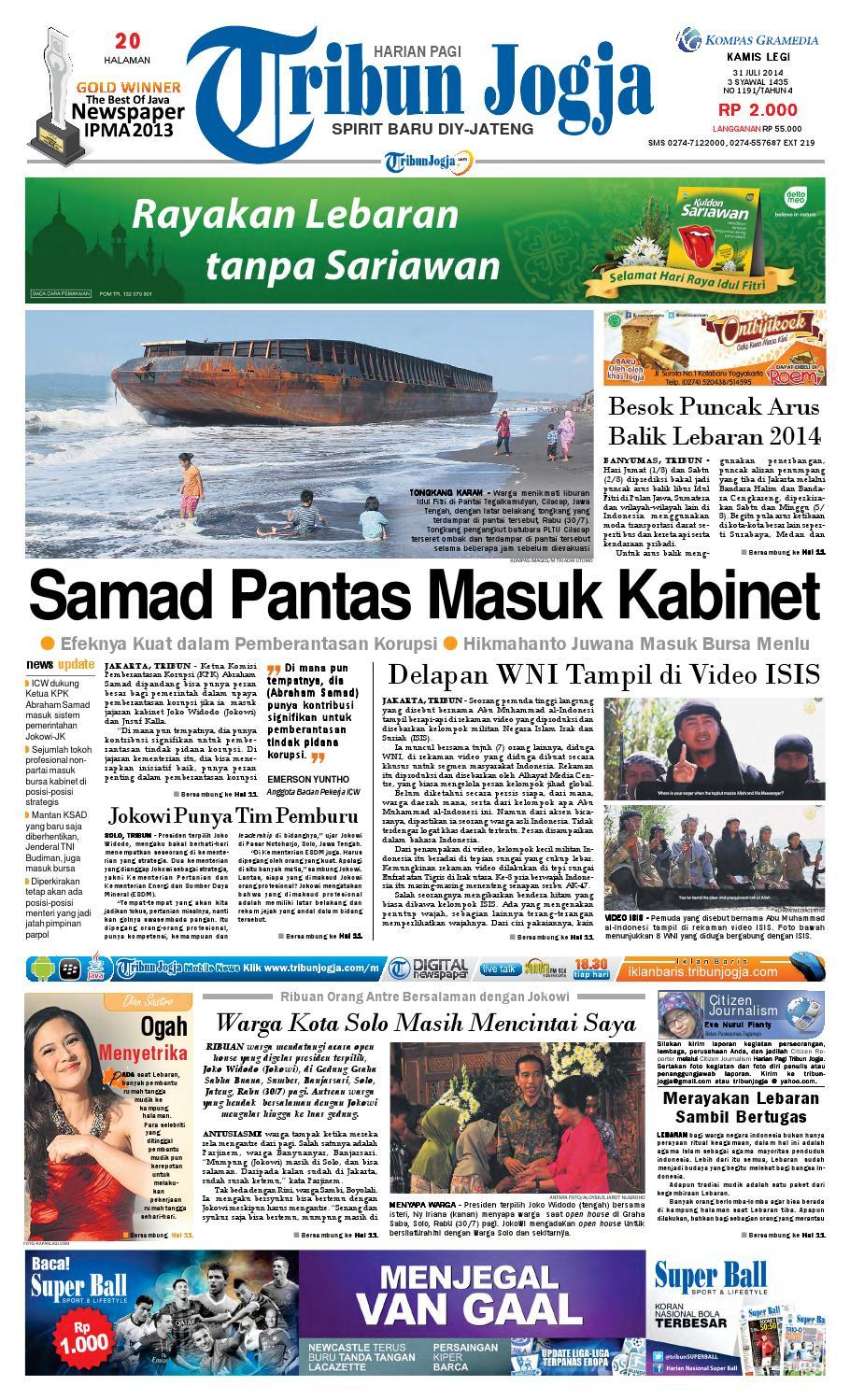 Tribunjogja 31 07 2014 By Tribun Jogja Issuu Produk Ukm Bumn Wisata Mewah Bali 3hr 2mlm