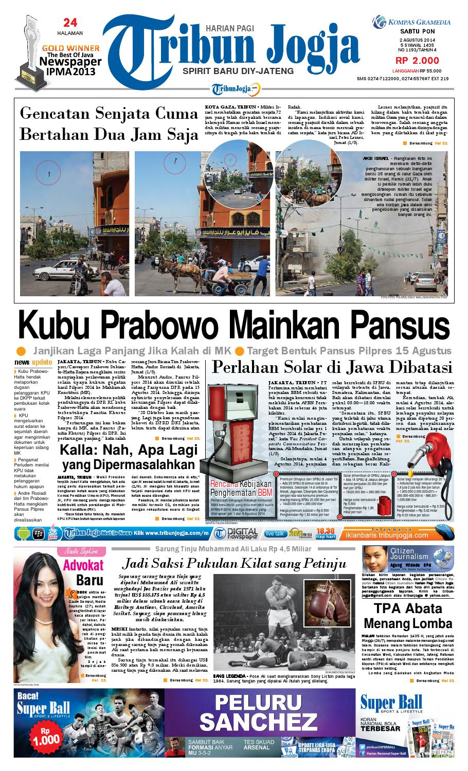 Tribunjogja 02 08 2014 By Tribun Jogja Issuu Ramatranz Travel Lampung Jakarta Palembang Dan Paket Kilat