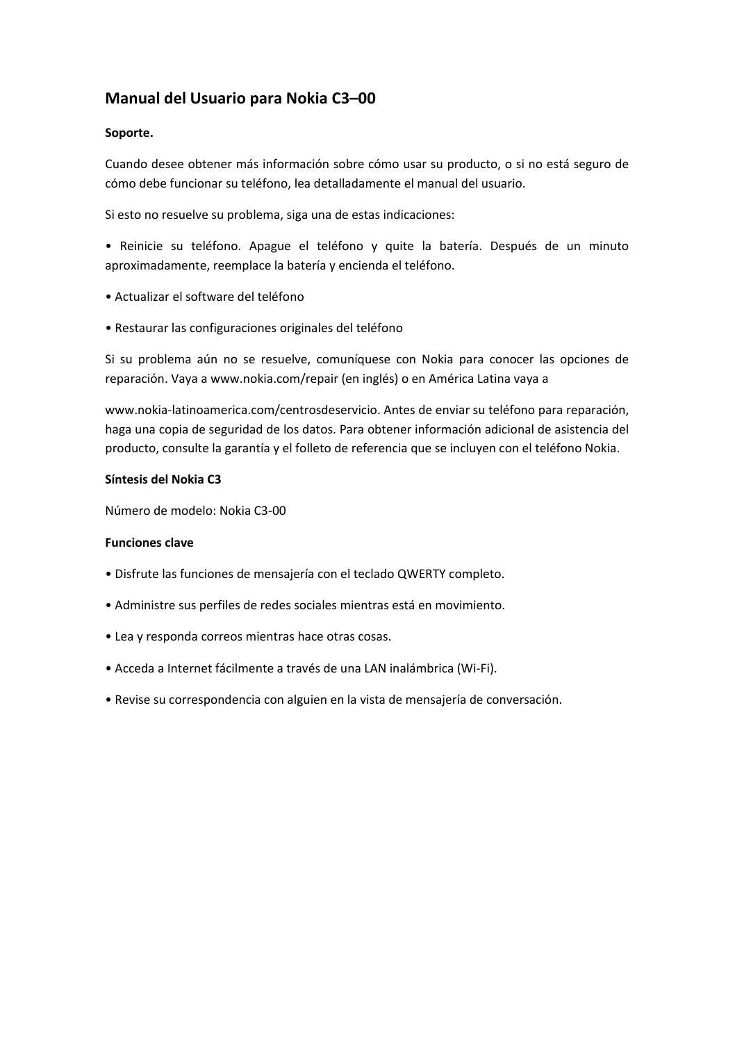 manual del usuario para nokia c3 by carolina galvis issuu rh issuu com Nokia C5 Nokia E71
