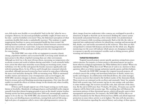 Page 21 of SOSF Centre   SOSF D'Arros Research Centre  Annual Report 2013