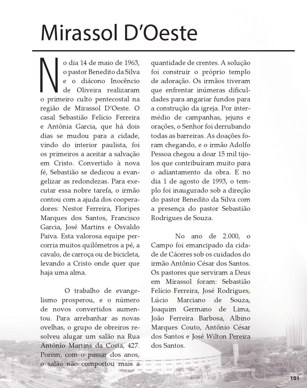 Livro da História das Assembleias de Deus em Mato Grosso by
