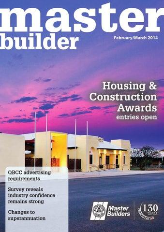 2014 master builders queensland magazine feb mar by arkmedia issuu page 1 solutioingenieria Gallery