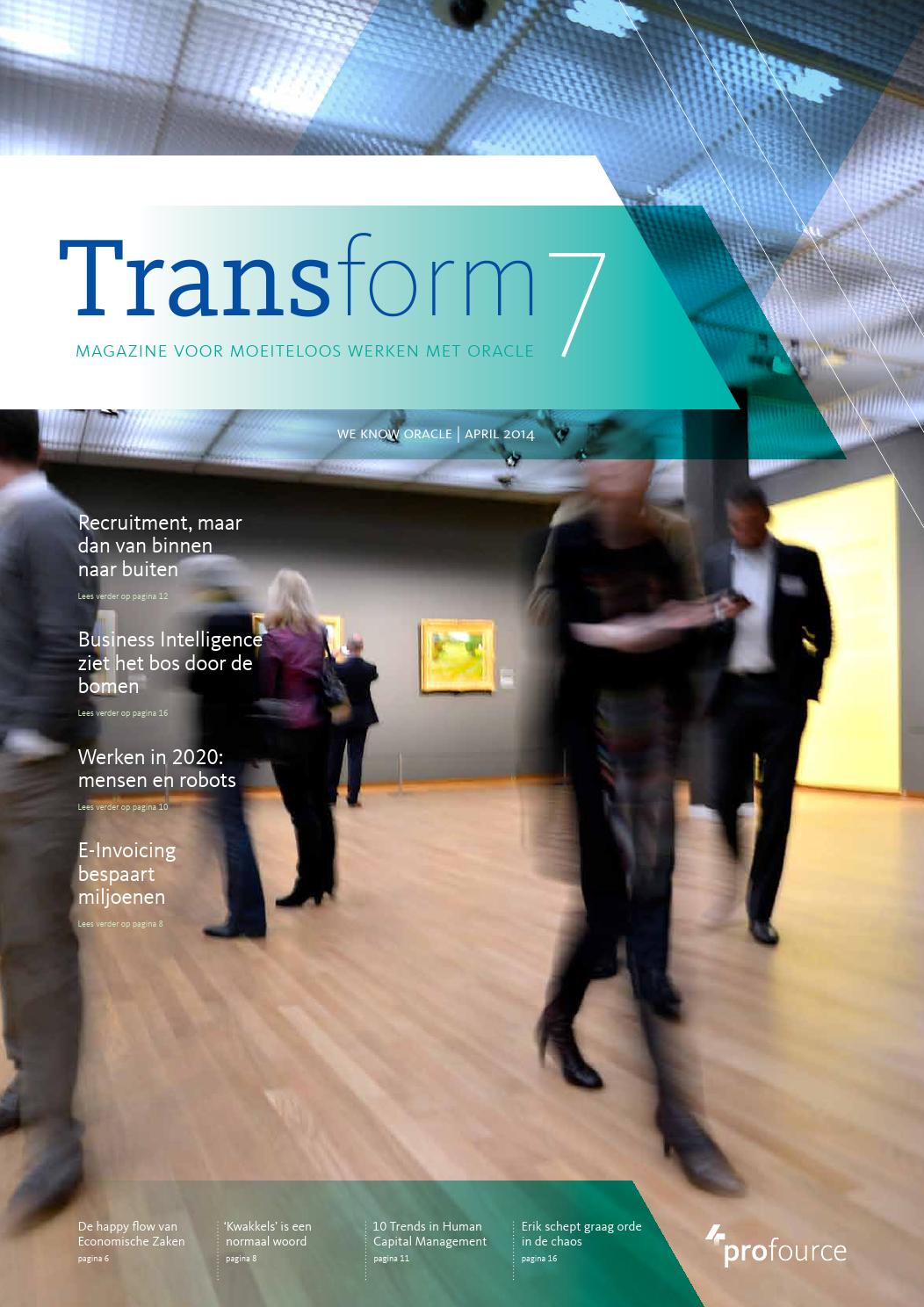 Transform magazine editie #7 Profource by Profource - Issuu