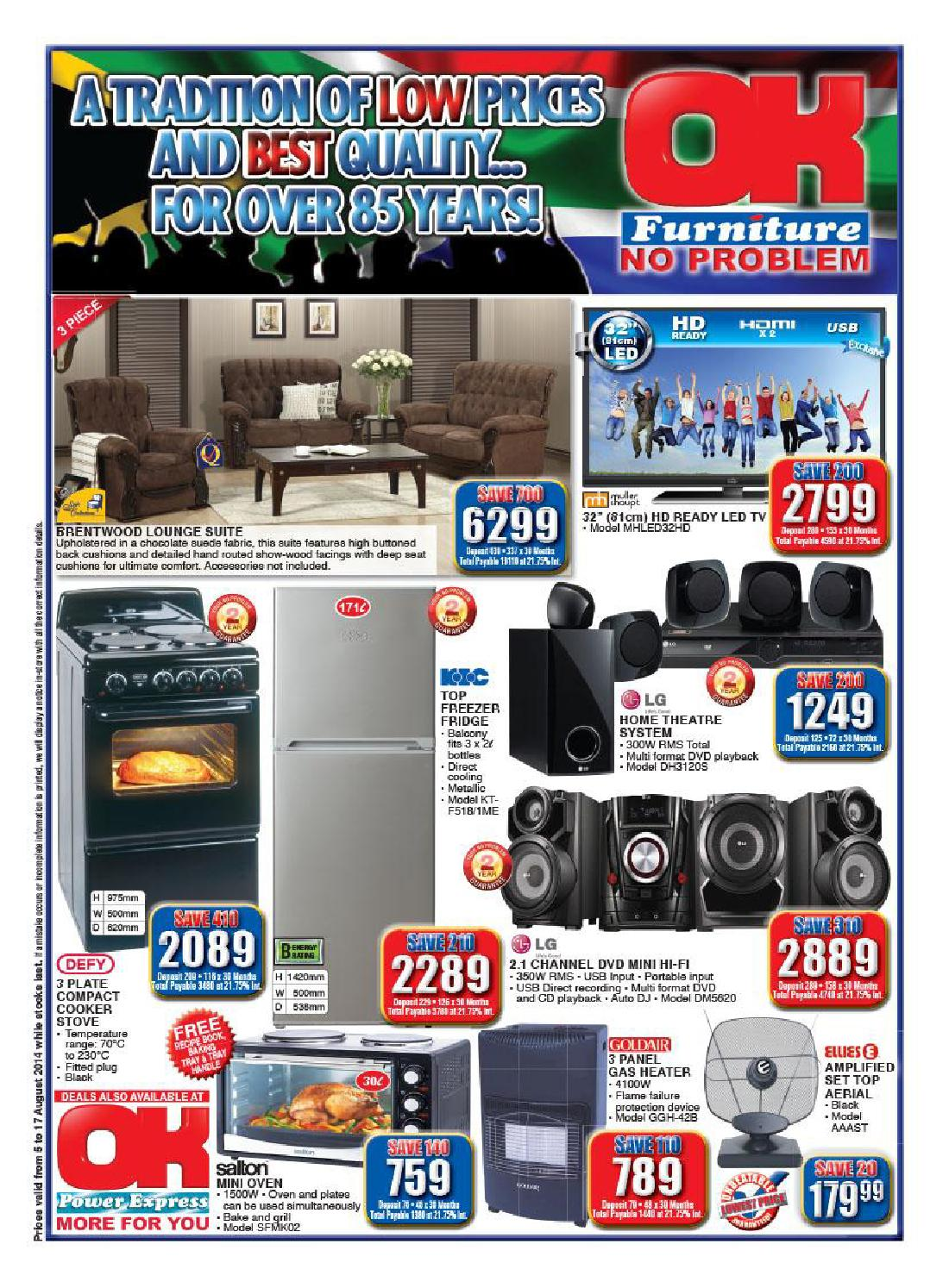 Ok furniture catalogue validity 5th 17th august 2014 by ok for Furniture catalogue