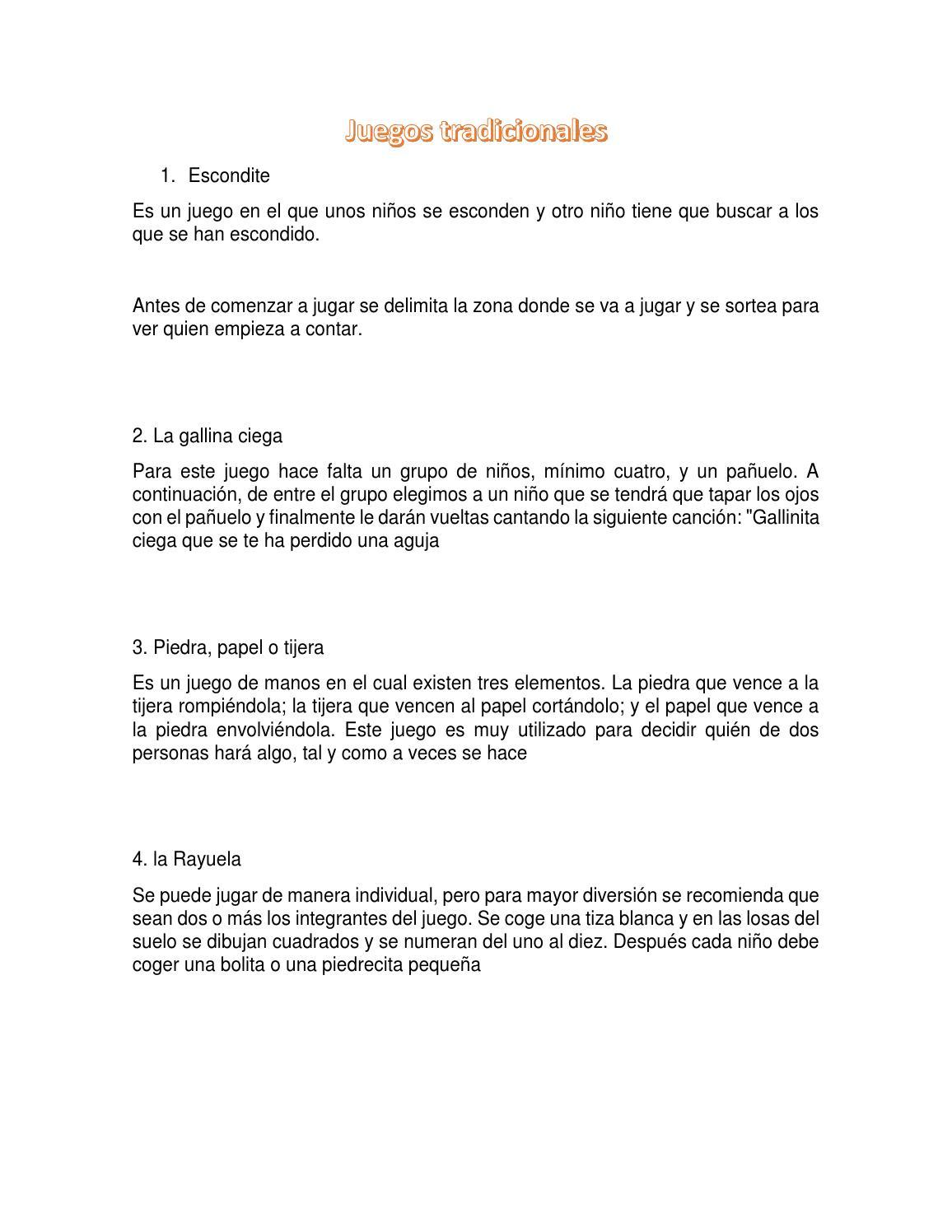 Juegos Tradicionales 3 By Miguel Angel Rios Cadeavid Issuu