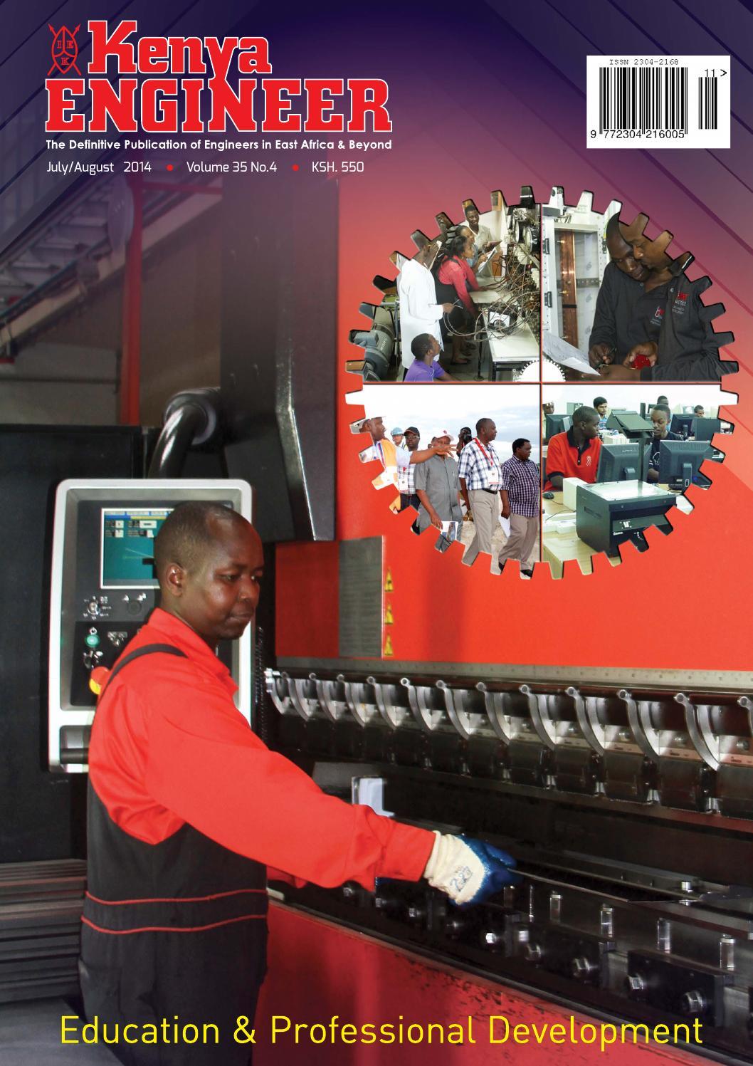 Kenya engineer magazine july august 2014 by kenya Engineer - issuu