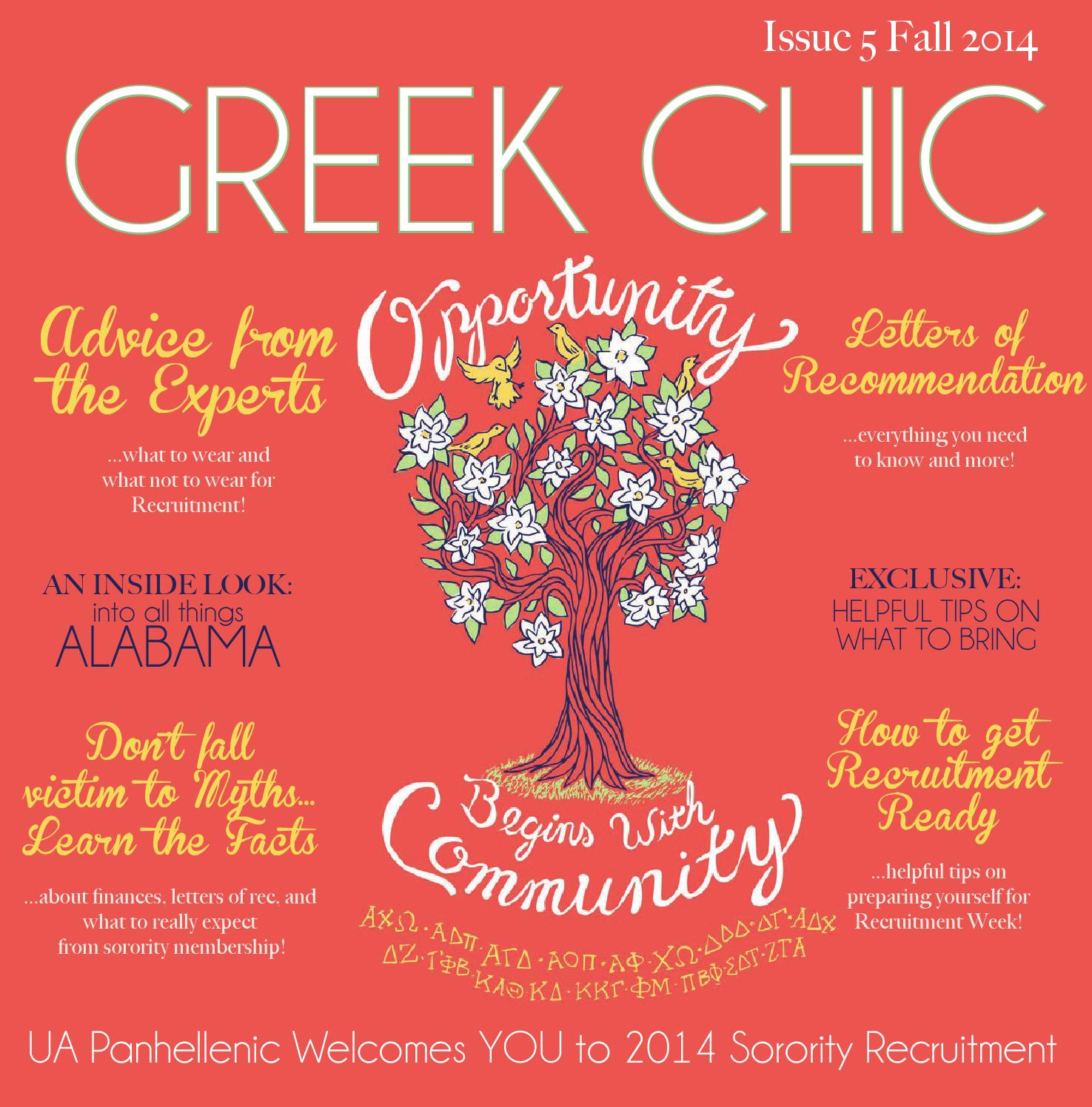 University Of Alabama Greek Chic 2014 By Alabama Panhellenic