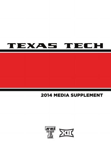 8e69dd057d4 2014 Texas Tech Football Media Supplement by Texas Tech Athletics ...