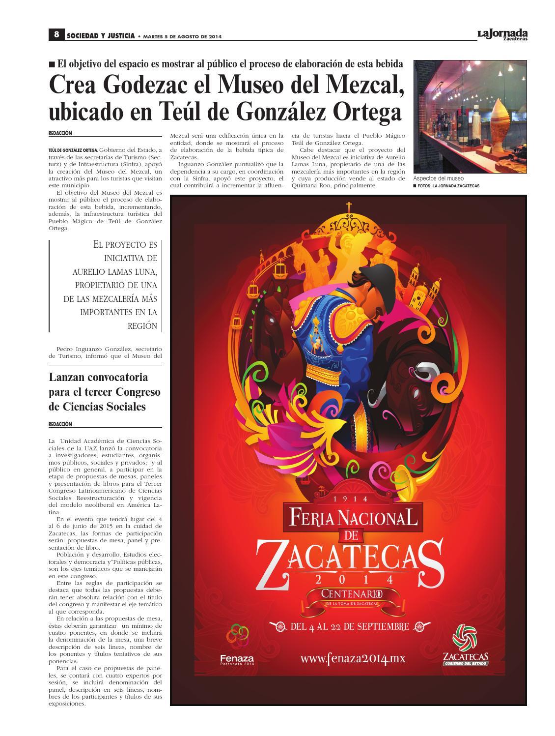 La Jornada Zacatecas, martes 5 de agosto del 2014 by La