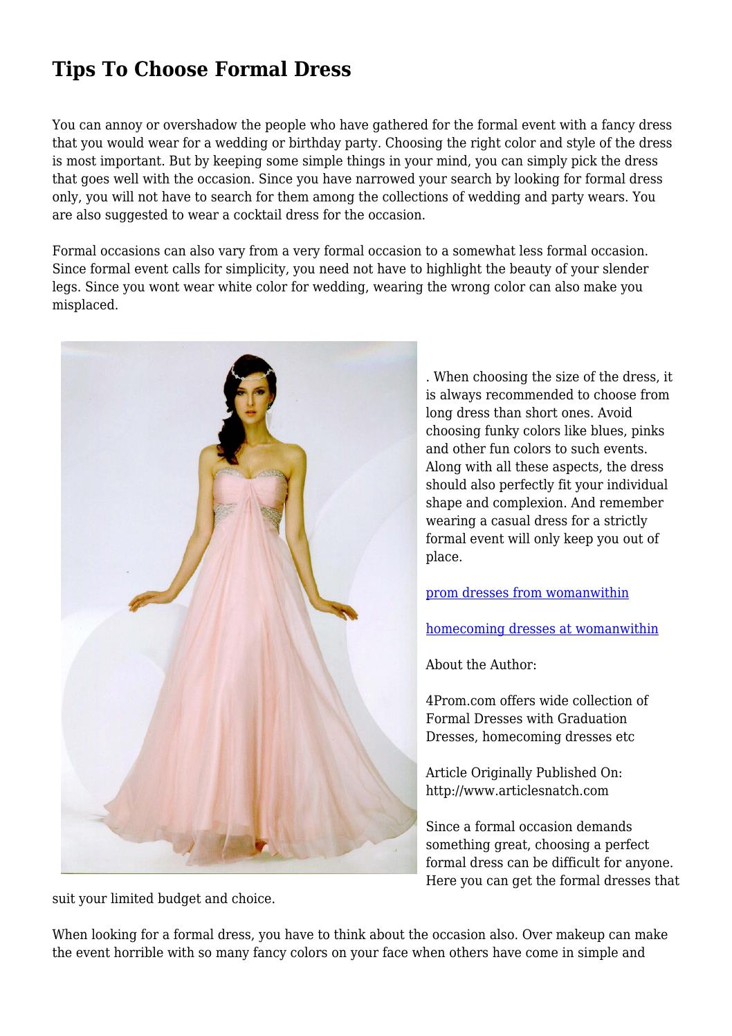 3a7e864eeb1 Tips To Choose Formal Dress by dampboss458 - issuu