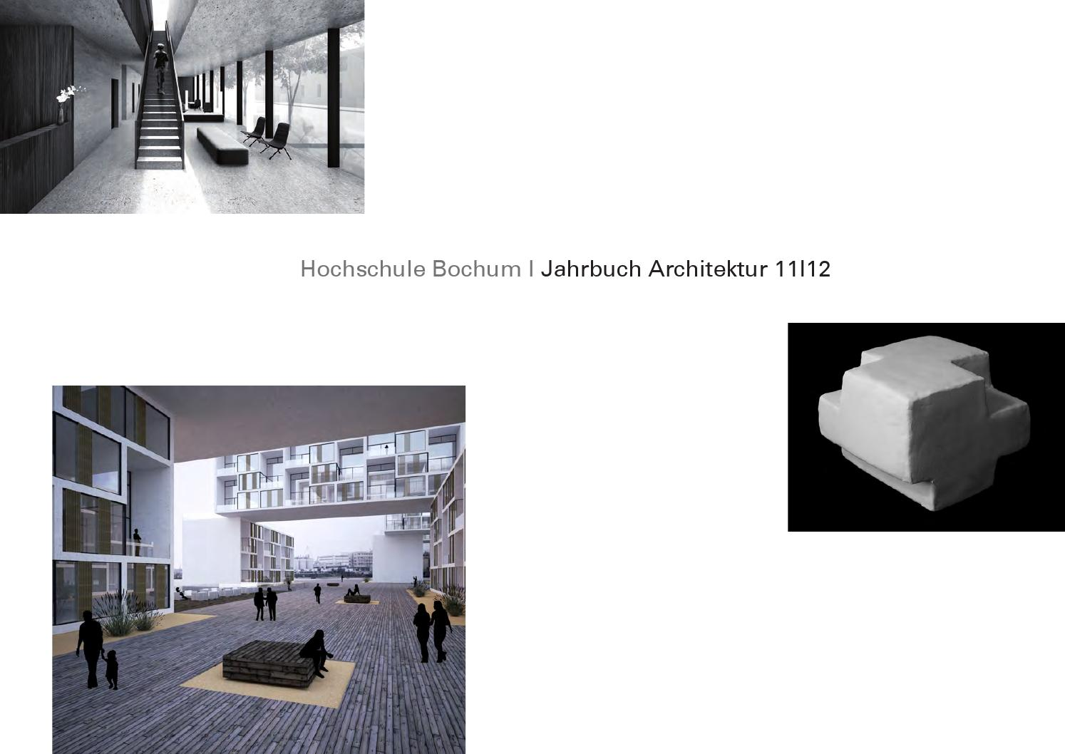 Jahrbuch Architektur HS Bochum 2012 by harald gatermann - issuu