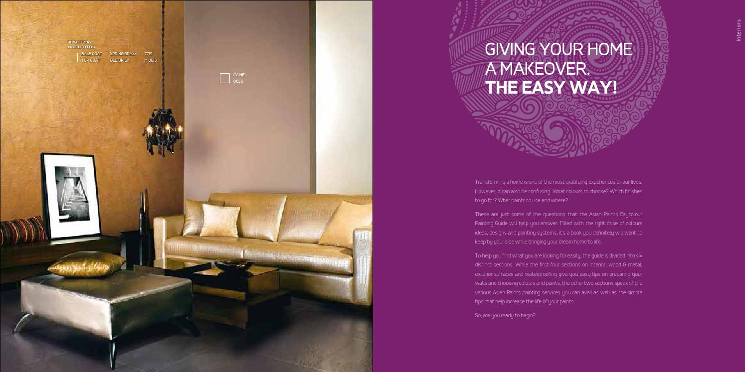 Ezycolour Painting Guide Campaign By Asian Paints Limited