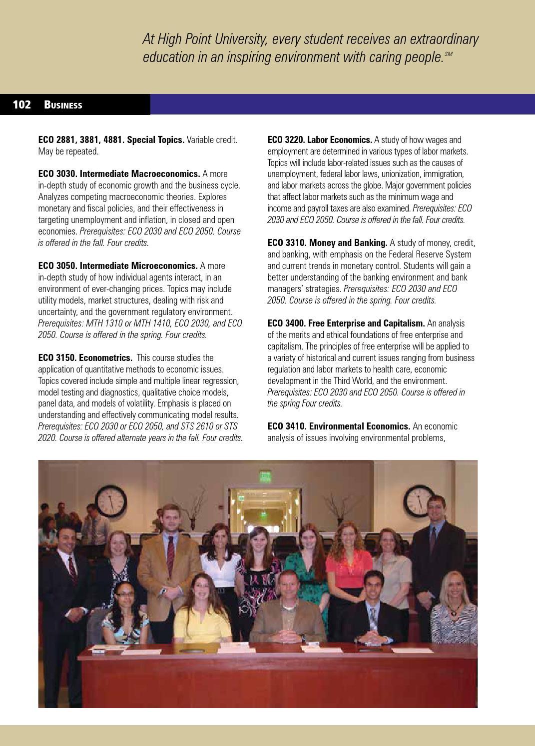 Undergraduate Bulletin 2014- 2015 by High Point University