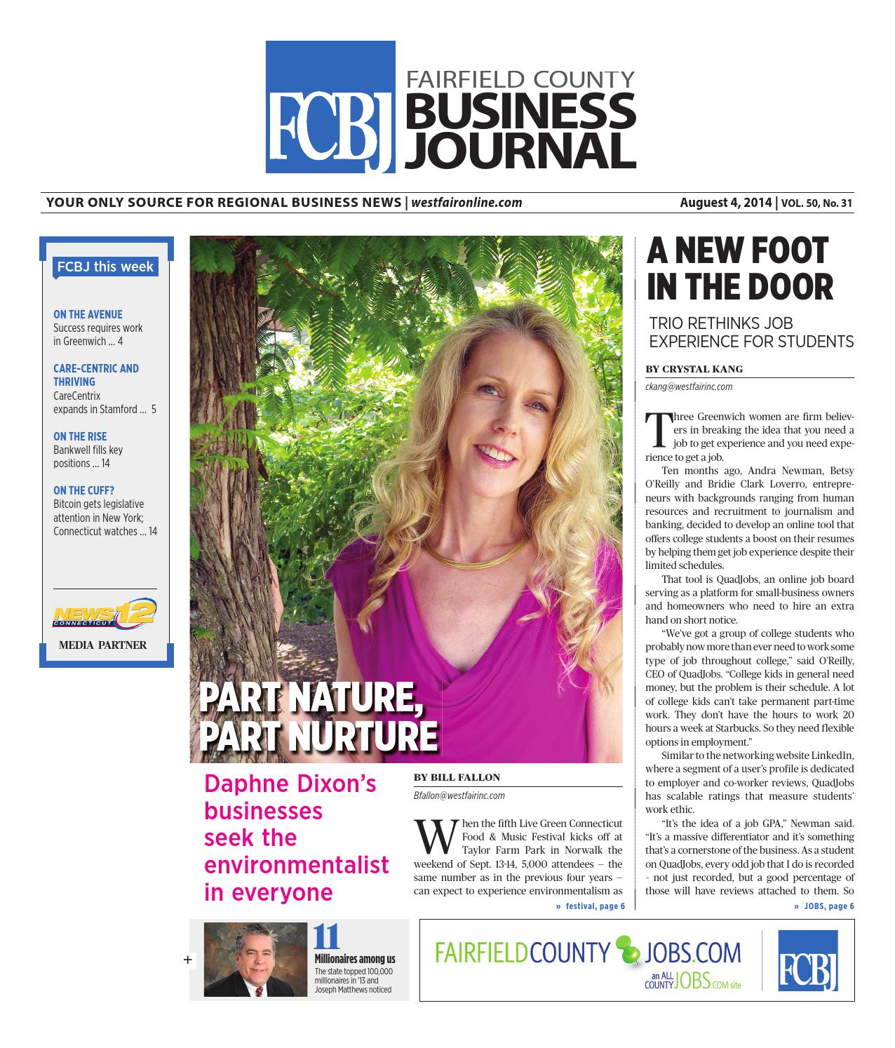Fairfield County Business Journal August 4 By Wag