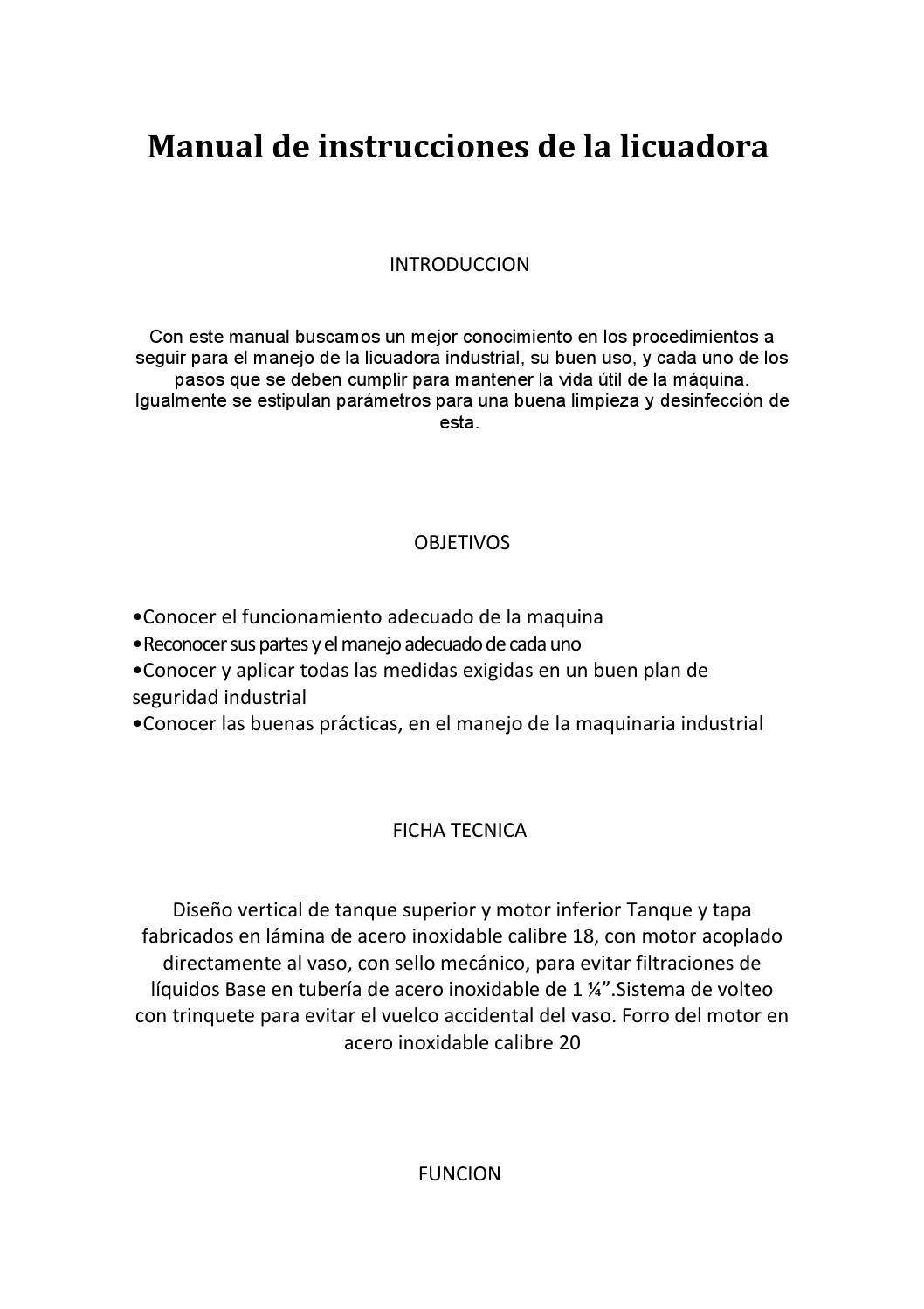 Bdc204-la manual de instrucciones de la