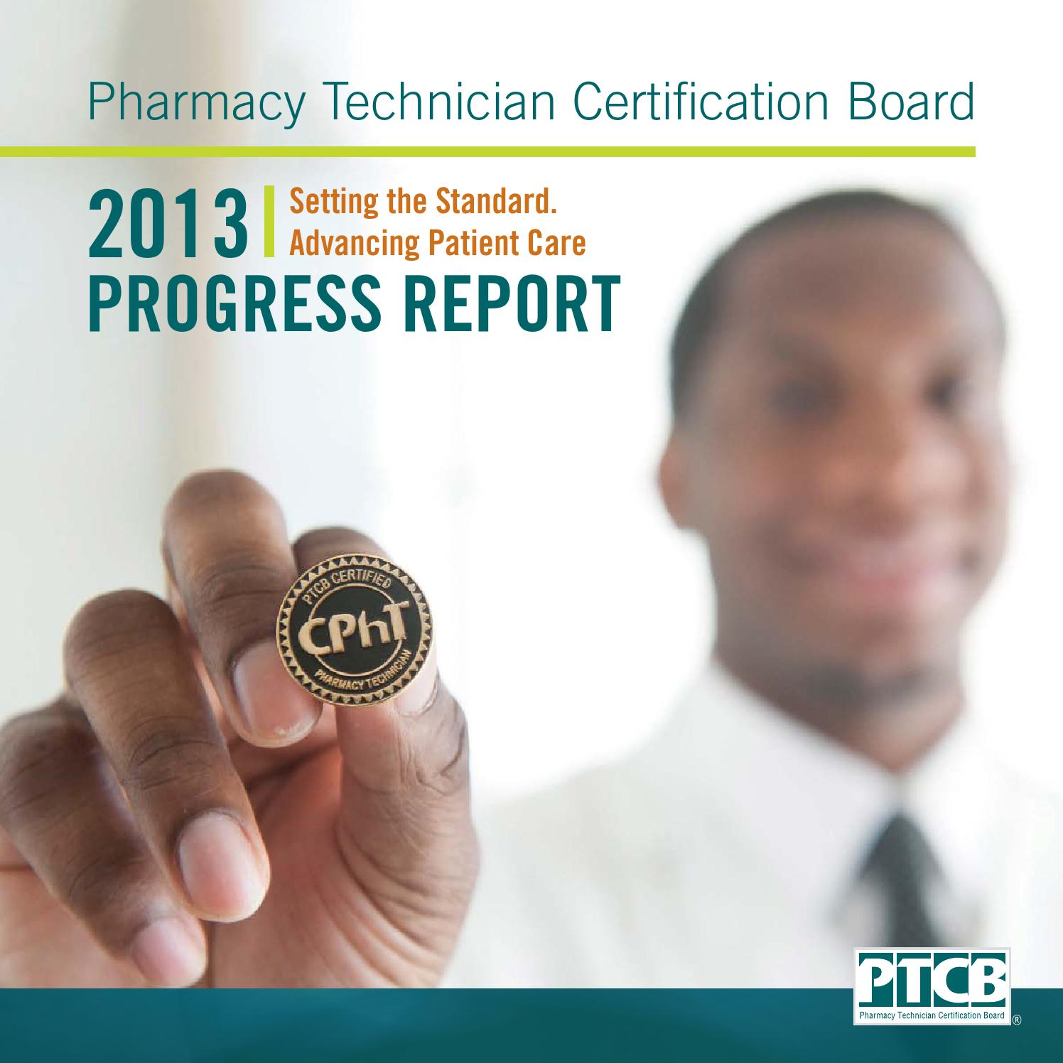 2013 Pharmacy Technician Certification Board Annual