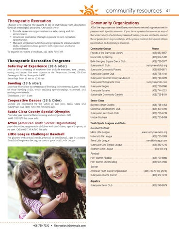 City of Sunnyvale Fall 2014 Activity Guide by City of
