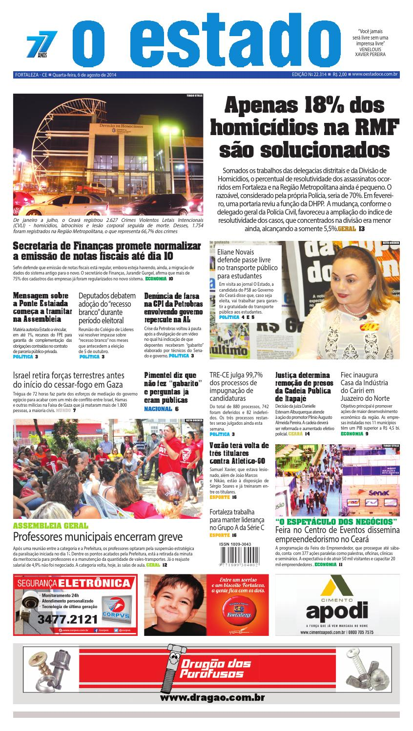 Edição 22314 - 06 de agosto de 2014 by Jornal O Estado (Ceará) - issuu ea4fc90d04a25