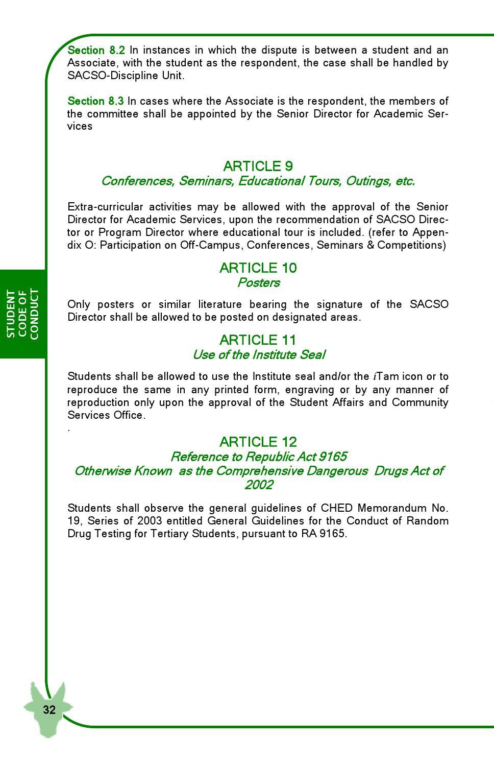 FEU Tech Student Handbook 2014 Edition by FEU Tech - issuu