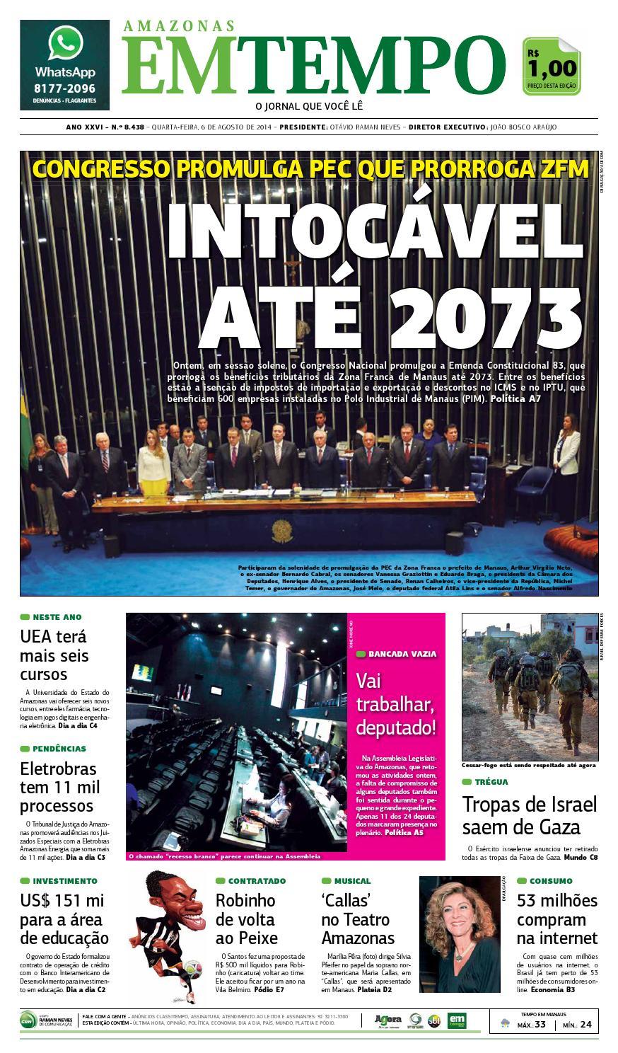 EM TEMPO - 6 de agosto de 2014 by Amazonas Em Tempo - issuu ff5411c086