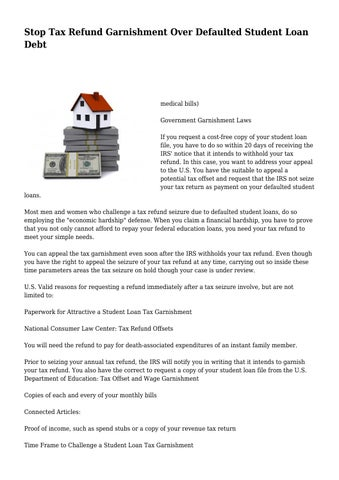 how to stop tax offset for student loans