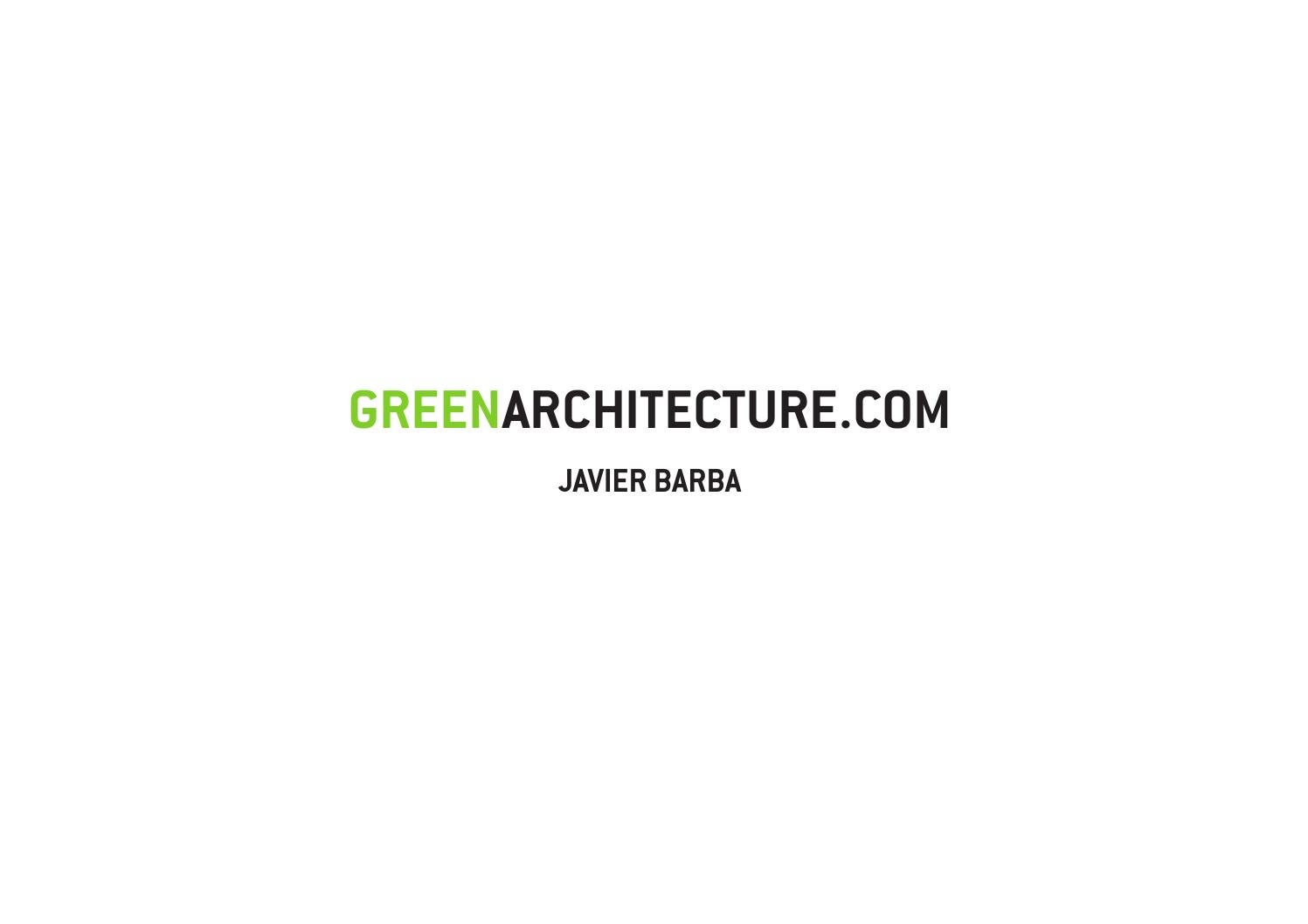 Green Architecture English By Javier Barba Bc Estudio  # Werkbund Muebles