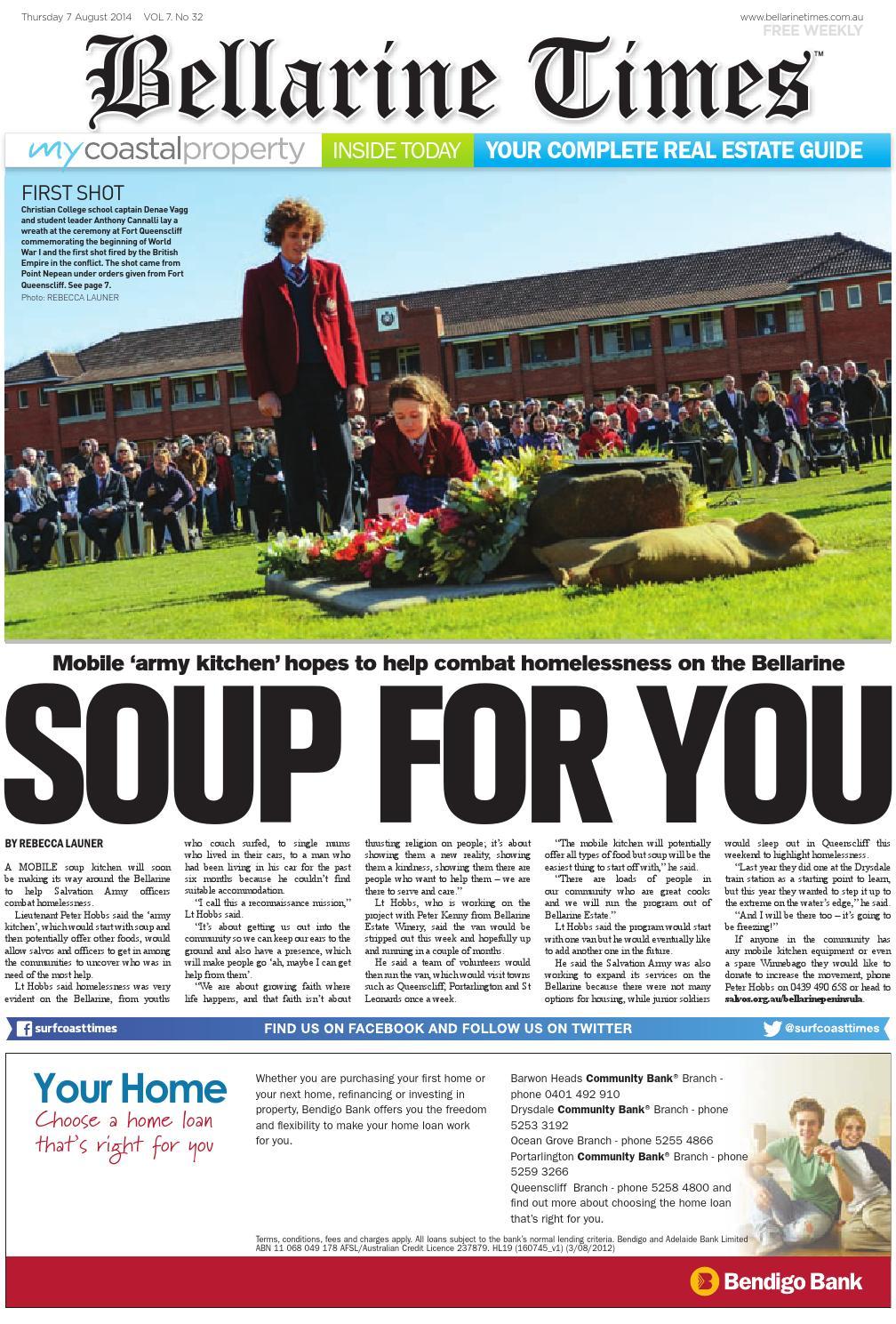 09dc3cebc73 Bellarine Times: August 7, 2014 by Surf Coast News Australia Pty Ltd - issuu