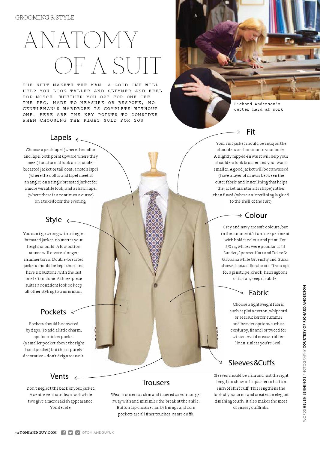 Richard Anderson - Anatomy of a Suit by Richard Anderson Ltd - issuu