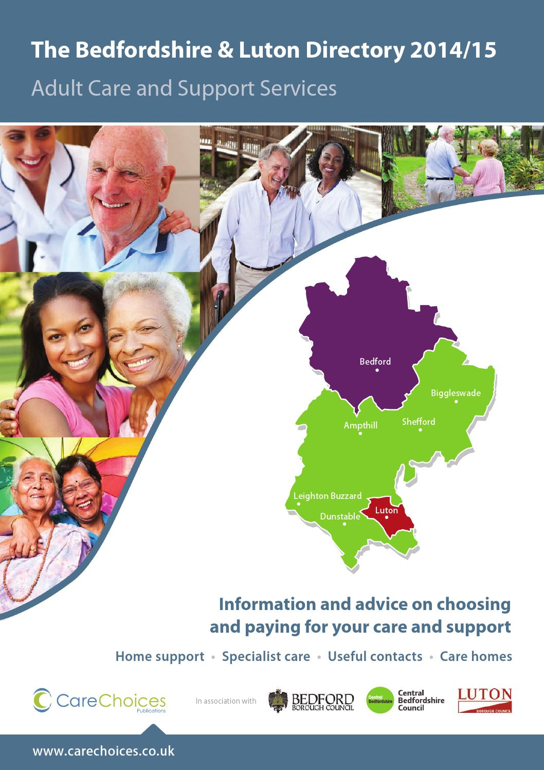 Bedfordshire Luton Directory 2014 15 Adult Care And Support Services By Choices Ltd