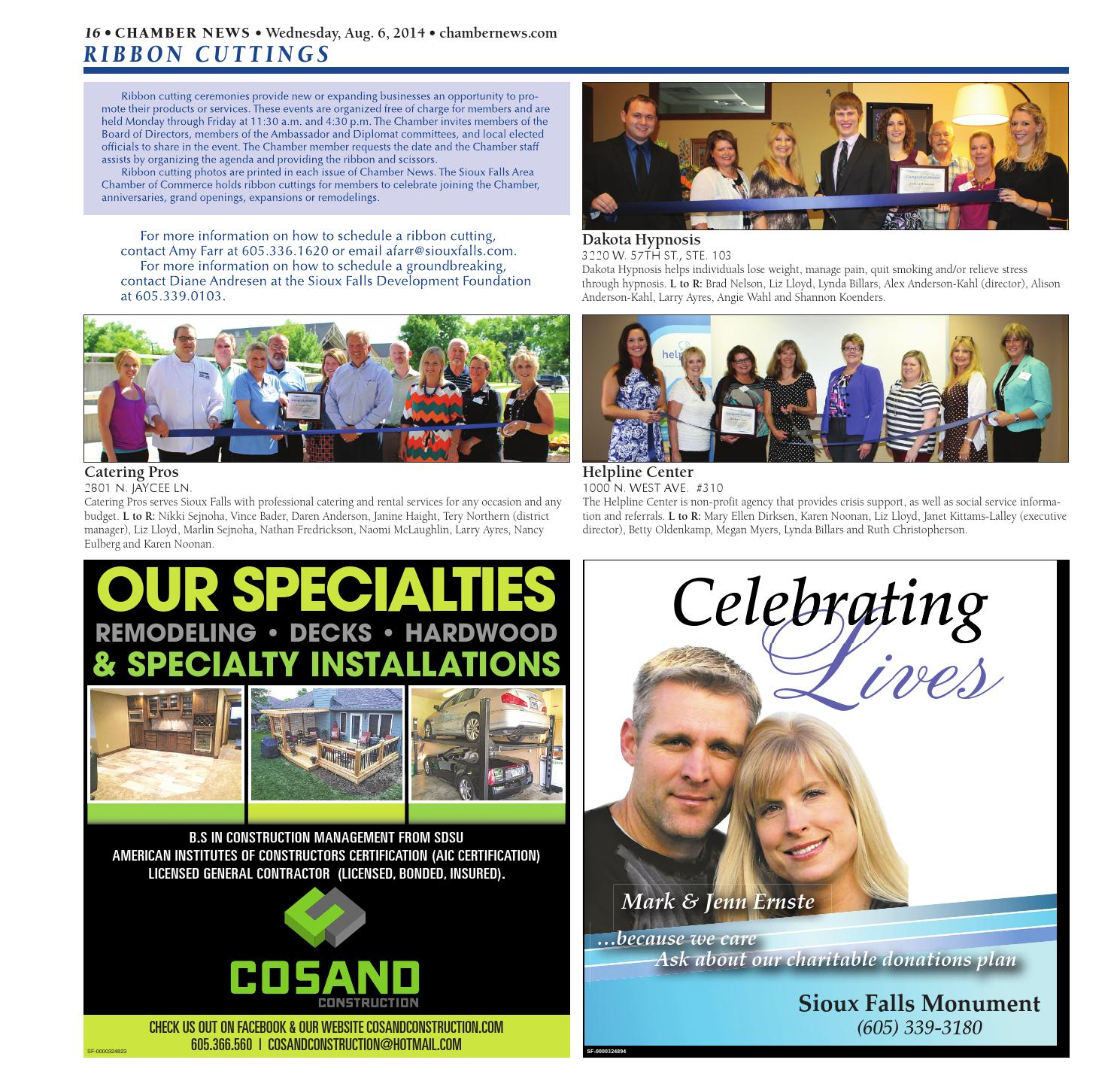 August 2014 Chamber News By Sioux Falls Area Chamber Of Commerce Issuu
