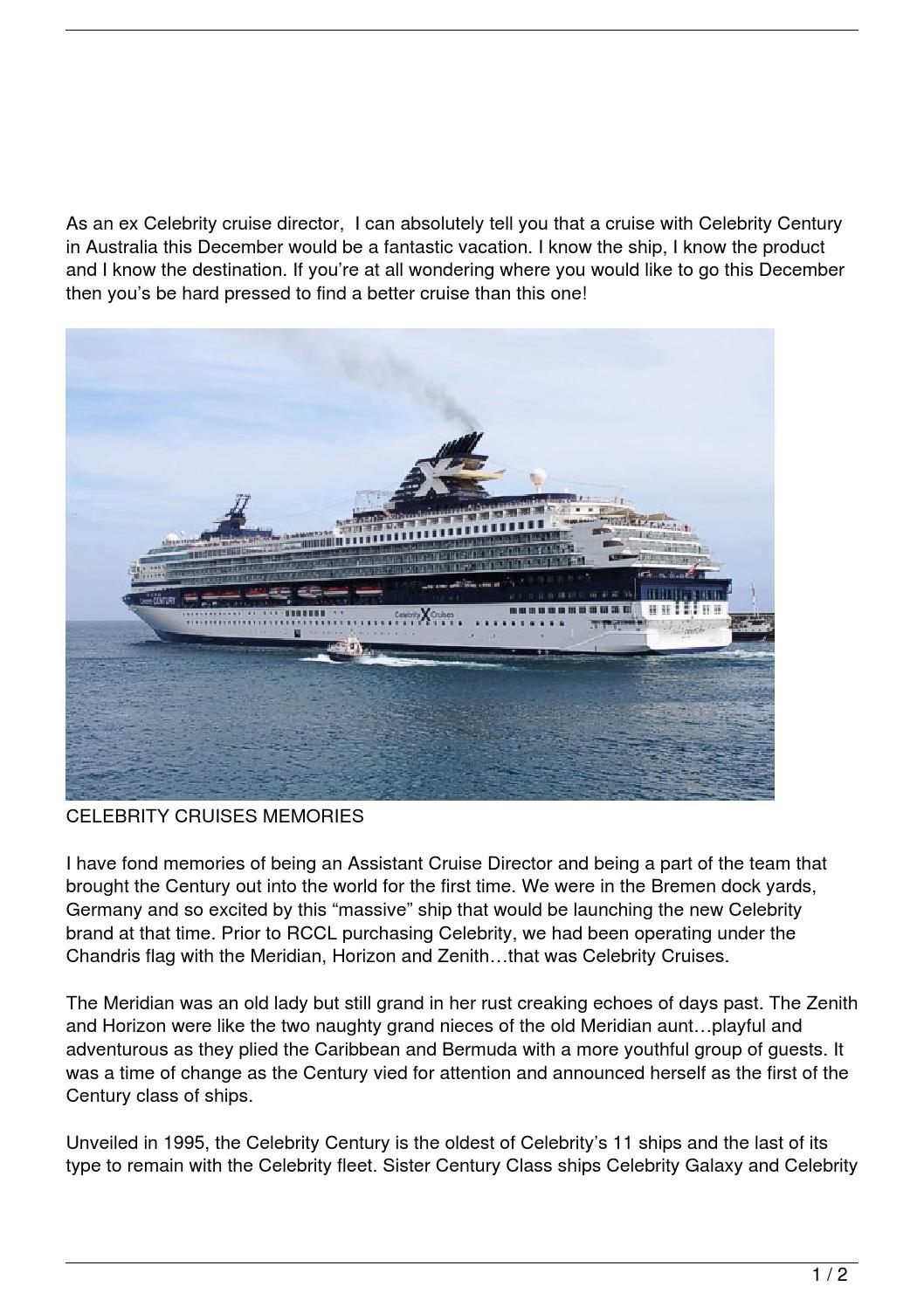 Celebrity Cruises In Australia By Richard Manders Issuu