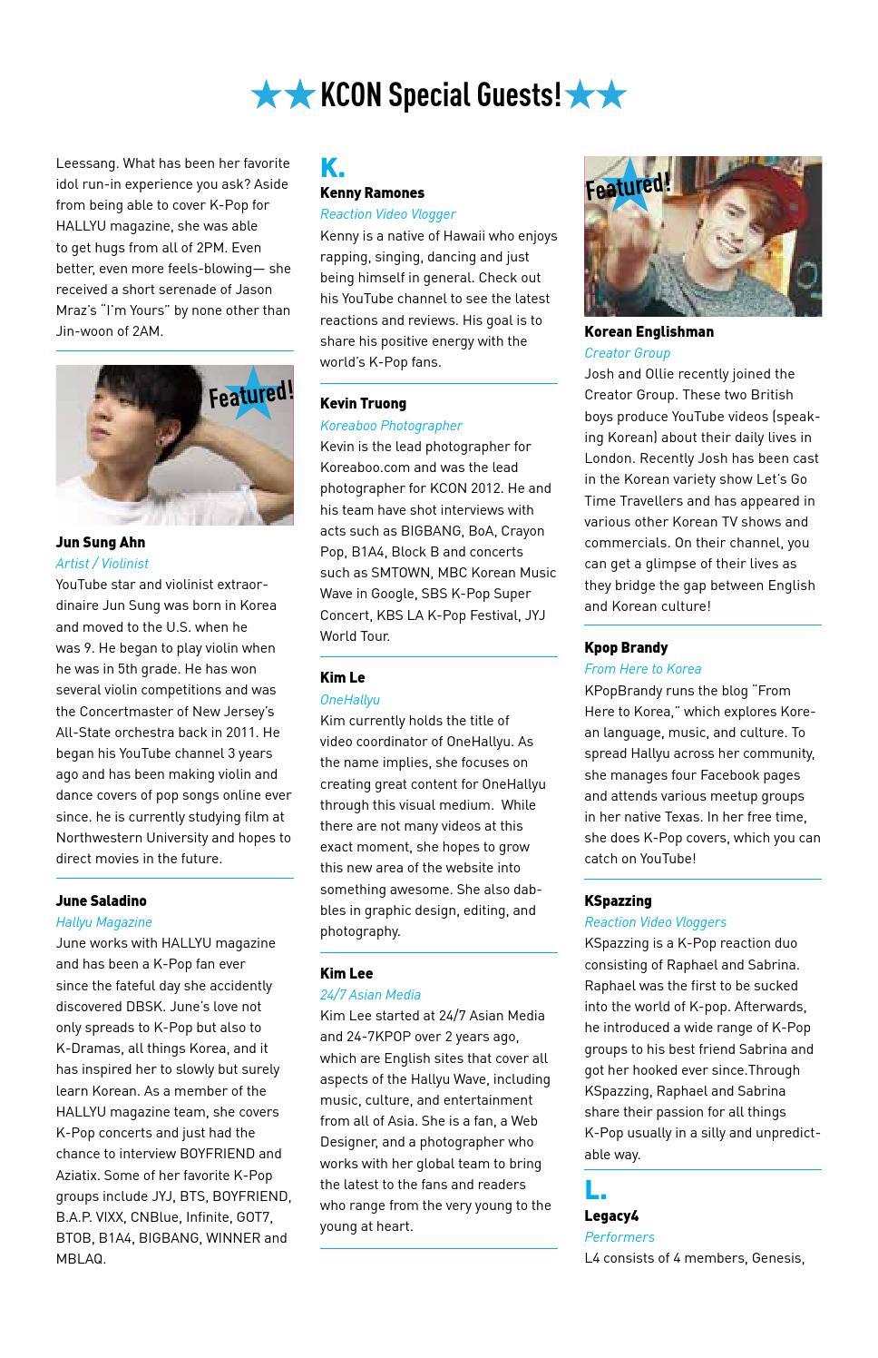 KCON 2014 Official Program Book by kconusa - issuu