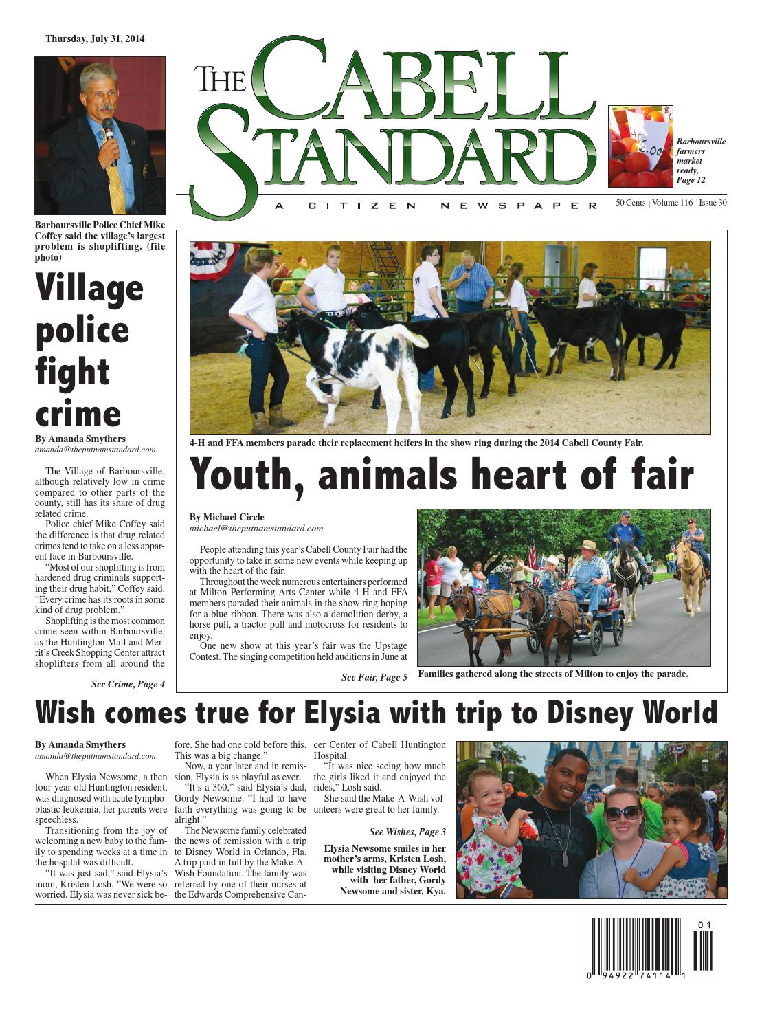 The Cabell Standard, July 31, 2014 by PC Newspapers - issuu