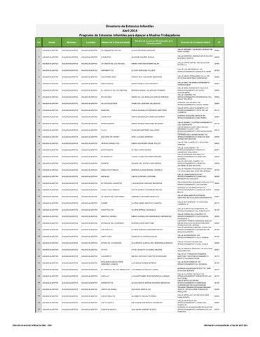Sedesol Estancias Directorio Ei Abr2014 By Maggy Mar Issuu