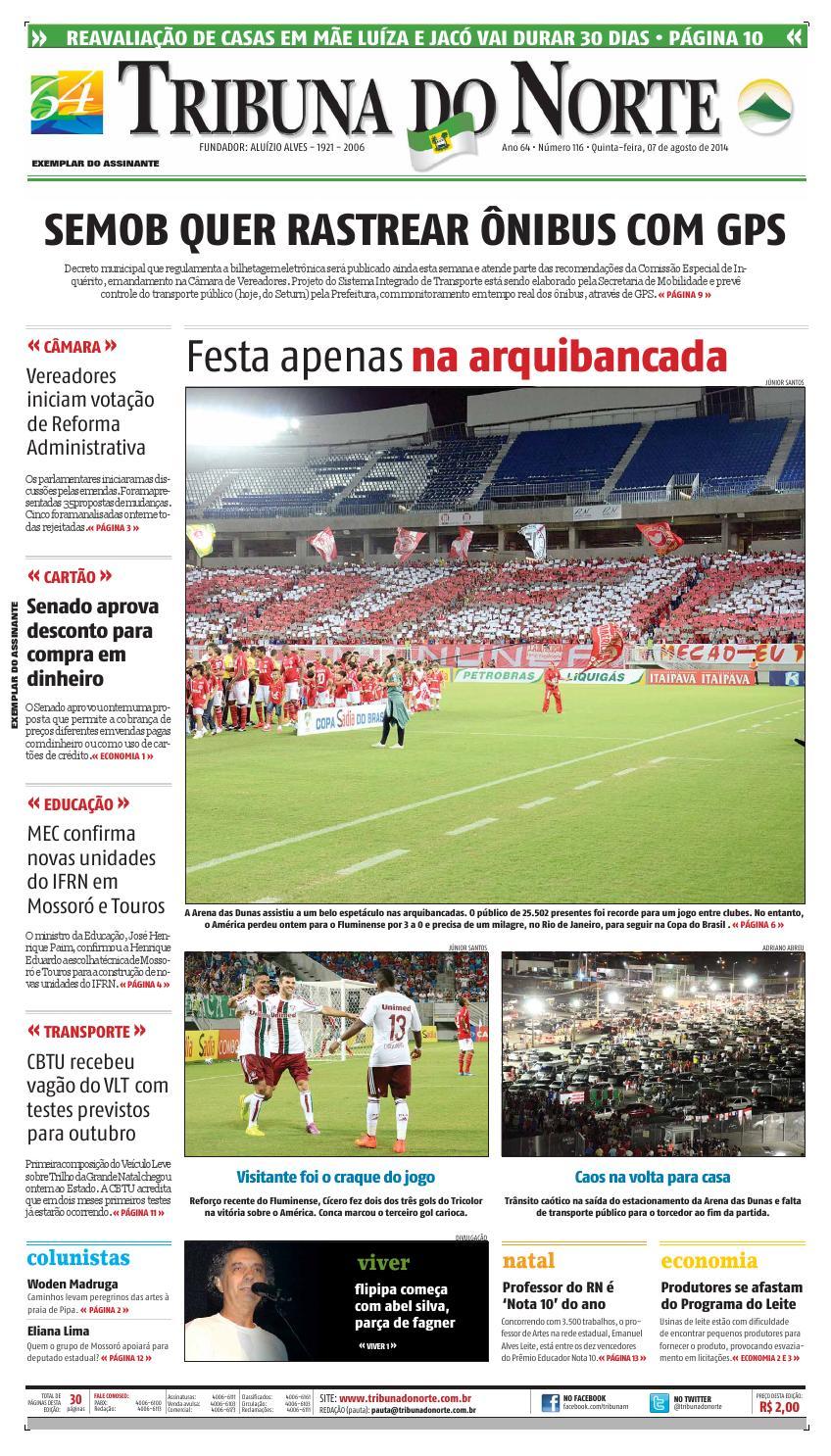 c290191446 Tribuna do Norte - 07 08 2014 by Empresa Jornalística Tribuna do Norte Ltda  - issuu