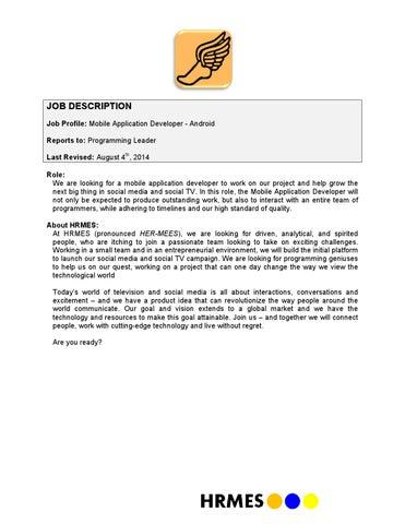 Android developer job description v080414 by Alex Qi - issuu