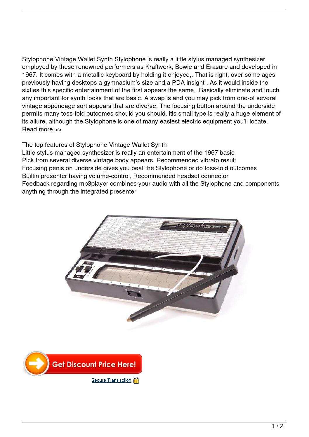 stylophone retro pocket synth review by le trung nghia issuu. Black Bedroom Furniture Sets. Home Design Ideas